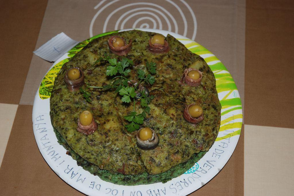 Truta gonyadora Nom 69 (truita de verdures amb un toc de mar i montanya